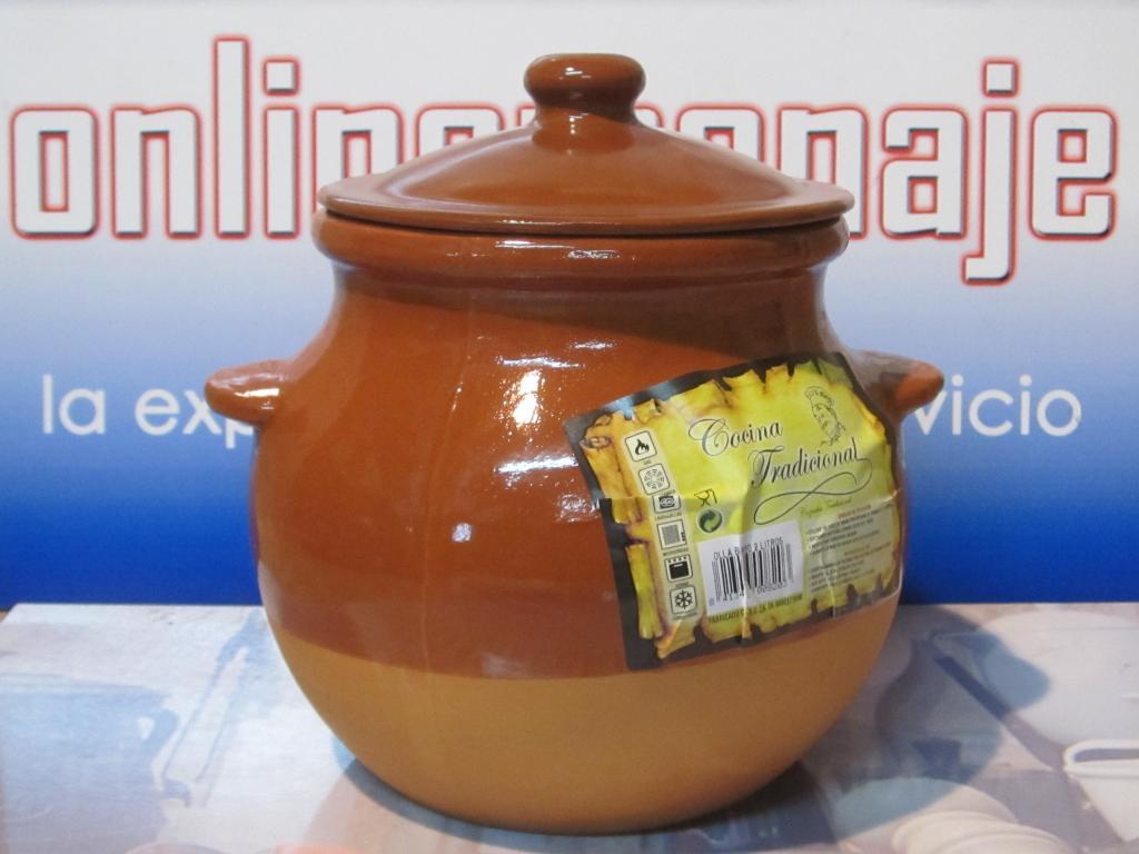 Olla barro con tapadera de 2 litros  Onlinemenaje Tienda virtual  Equipacin de cocina