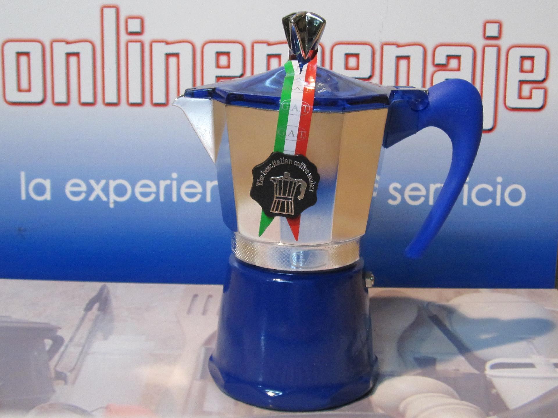 Cafetera induccin Fantasia aluminio azul 9 tazas  Onlinemenaje Tienda virtual  Equipacin de cocina