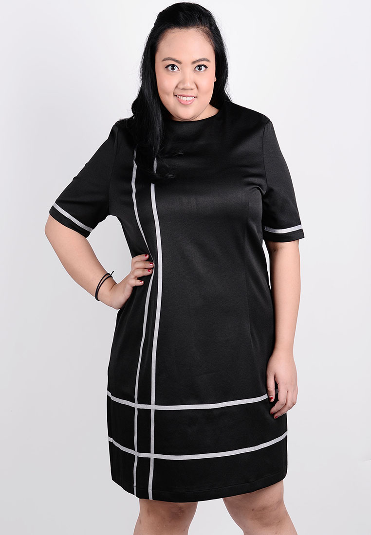 Korean Style Short Sleeve Office Dress Plus Size Clothes