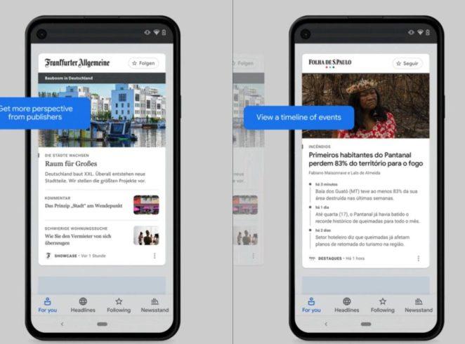 Google News lança Destaques, com investimento de US$ 1 bilhão no jornalismo