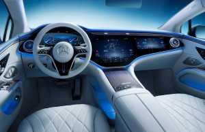 Interiøret i Mercedes EQS 2022.