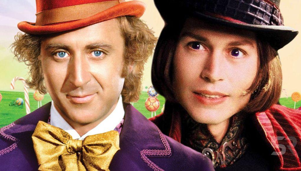 Willy Wonka og Charlie og sjokoladefabrikken.