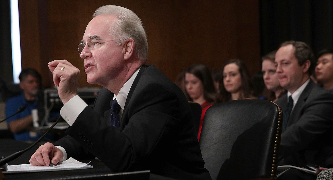 "At Rep. Tom Price's confirmation hearing for the Health and Human Services secretary post, he faced questions about his investments in a health care company. A Washington Post editorial called Price ""a walking, talking example of the ways in which congressional ethics requirements are too lax."""