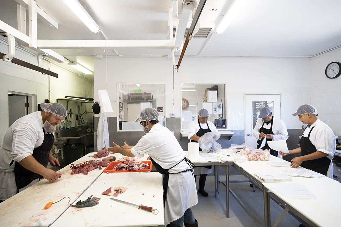 Butcher and processing plant