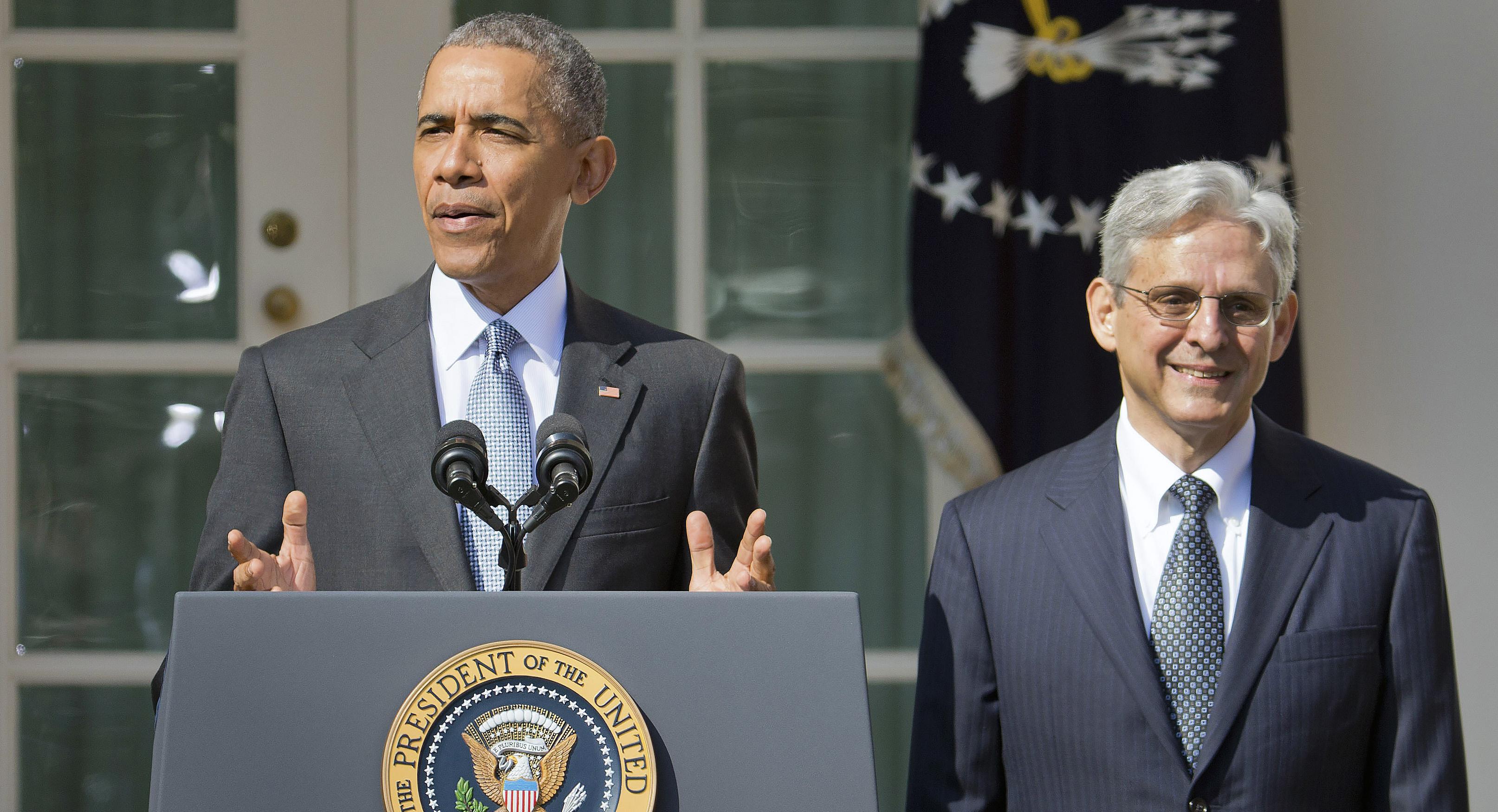 Image result for obama merrick garland