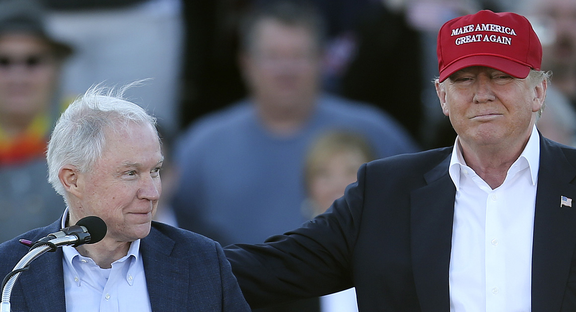 Image result for JEFF SESSIONS AND DONALD TRUMP HANNITY
