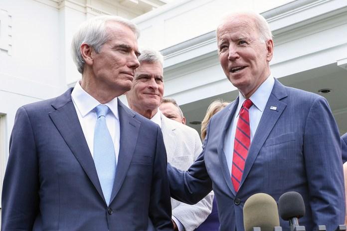 GOP infrastructure negotiators fume over Biden's handling of their deal