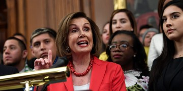 Pelosi works to placate anxious Dems with Trumka meeting