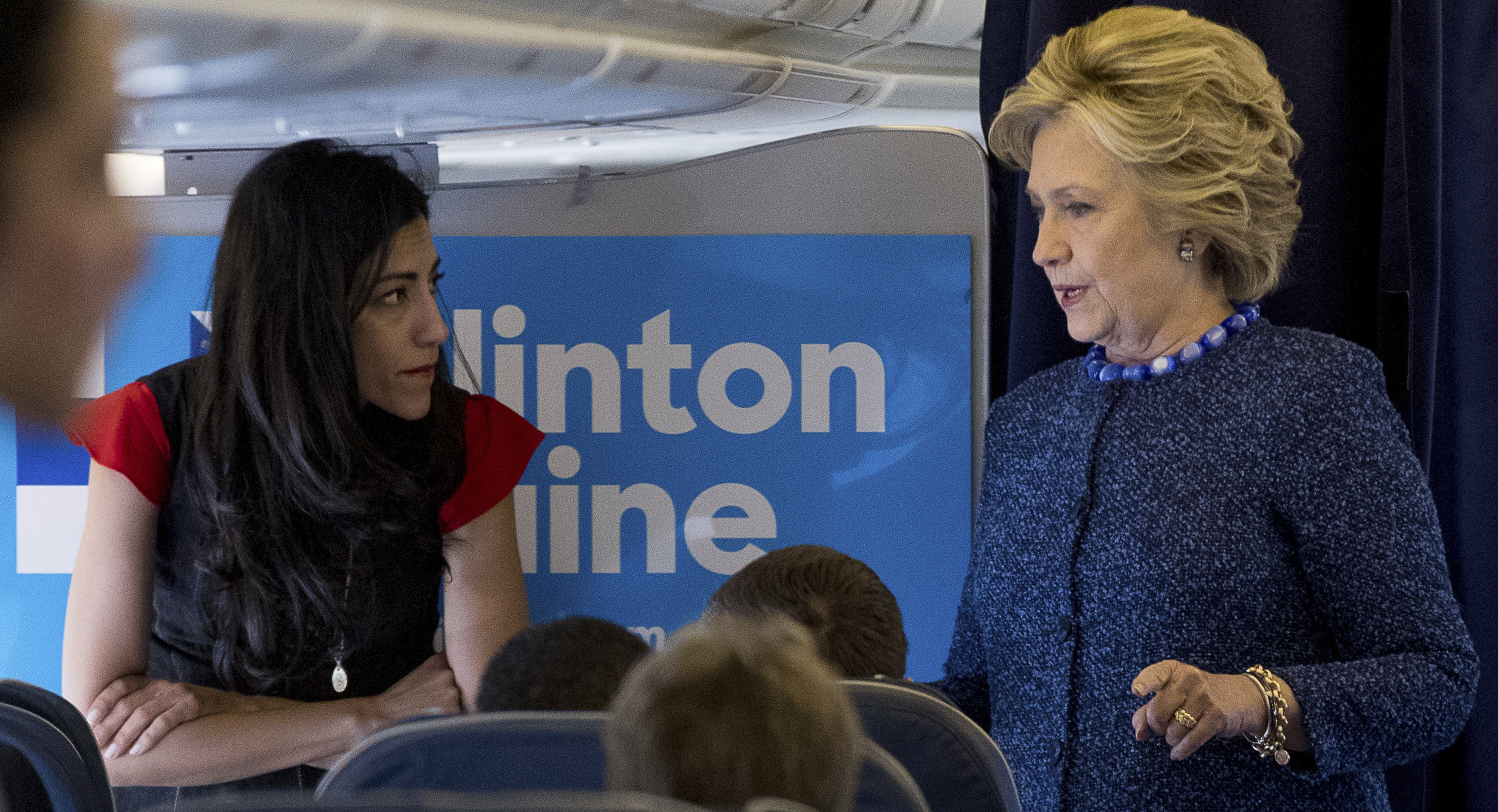 huma abedin back by