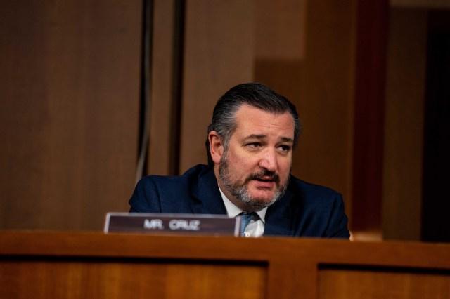 Sen. Ted Cruz speaks during a Senate Judiciary Committee hearing.