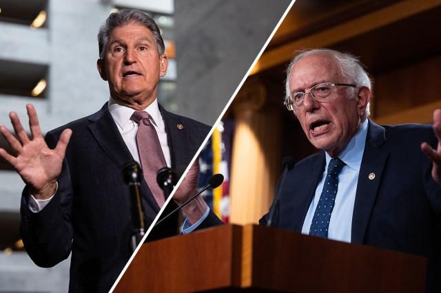 Sens. Joe Manchin (D-W.Va.) and Bernie Sanders (I-Vt.).