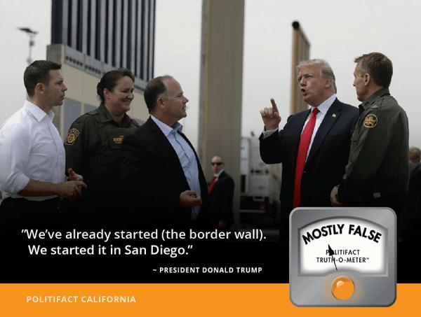 Has construction 'already started' on Trump's border wall ...