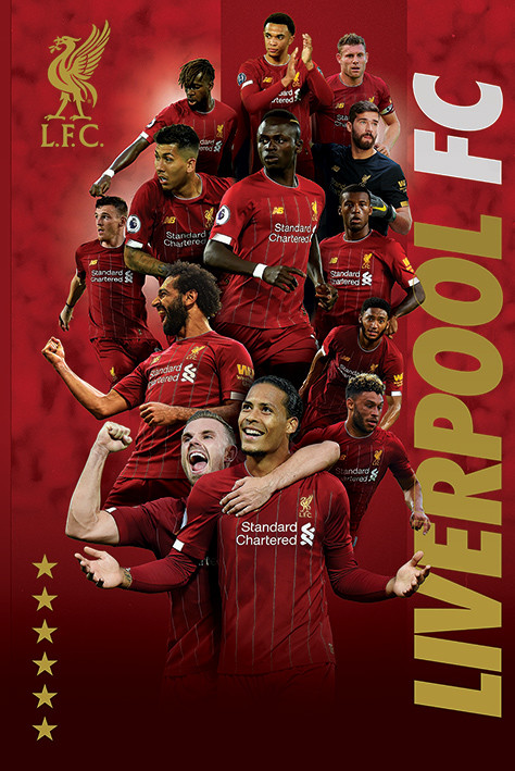 liverpool fc players 2019 20 poster plakat 3 1 gratis bei europosters
