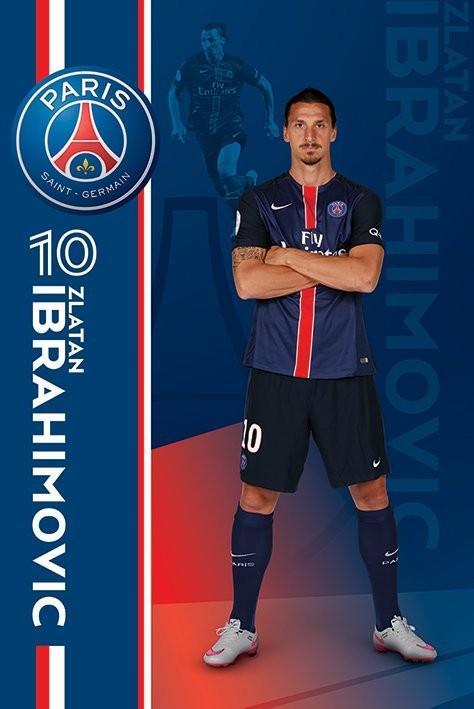 Paris Saint Germain Fc Zlatan Ibrahimović Póster Lámina