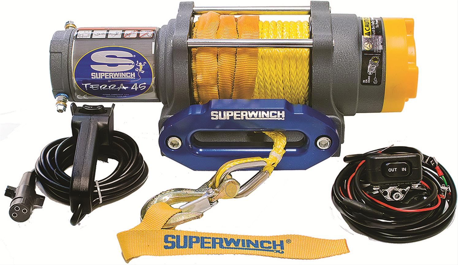 hight resolution of superwinch terra 45 sr atv winches 1145230 free shipping on orders over 99 at powersports place