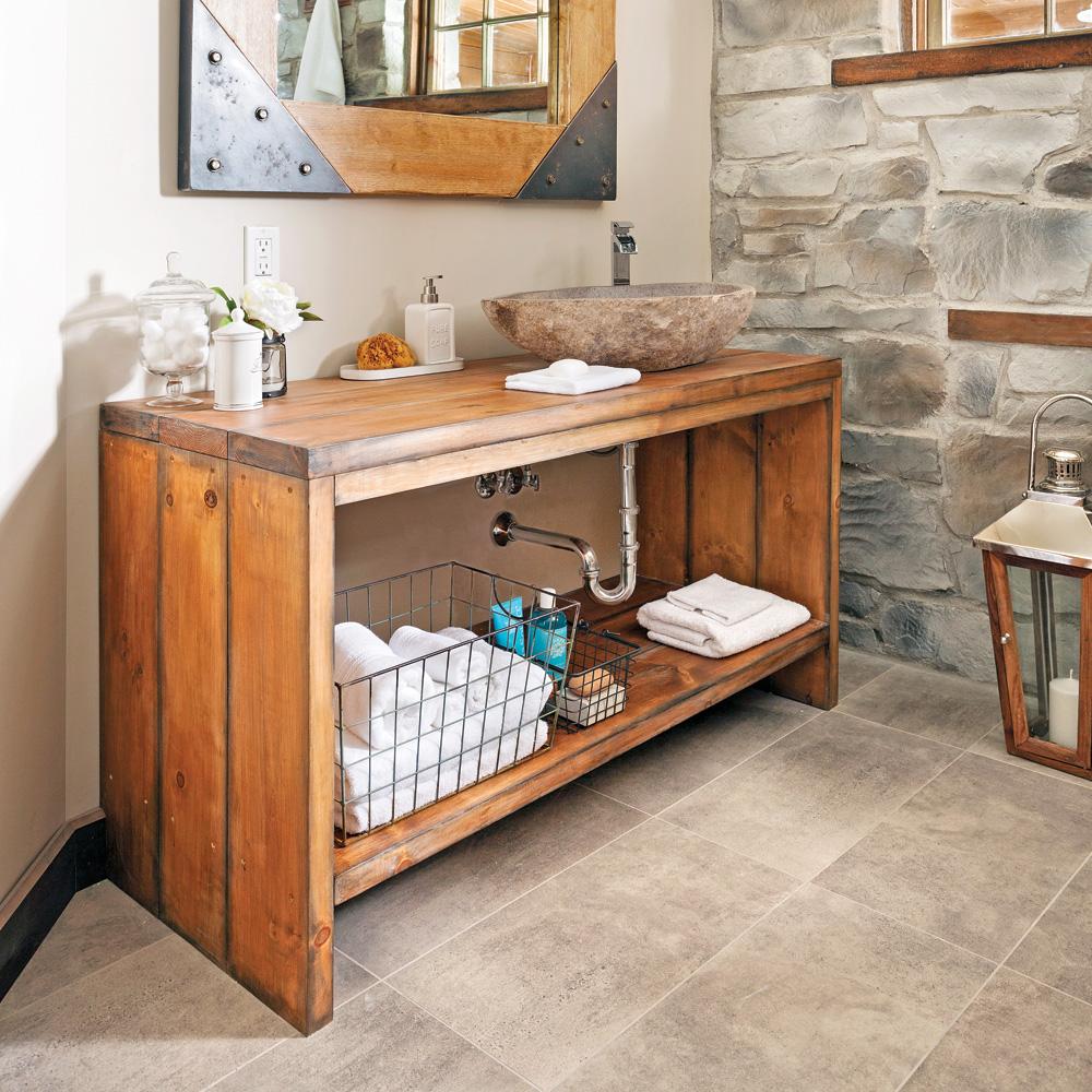 Crer un meublelavabo en bois  En tapes  Dcoration et rnovation  Pratico Pratique