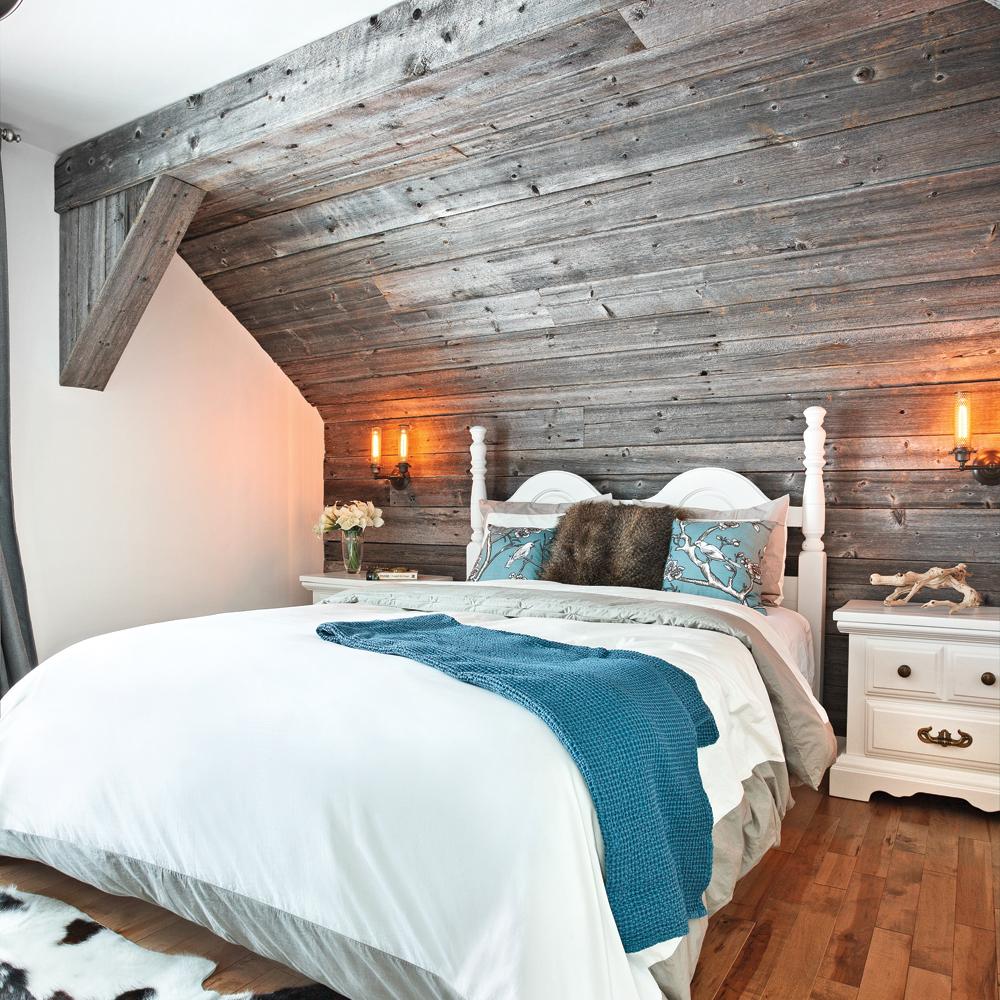 Du bois de grange pour une chambre chaleureuse  Chambre  Avant aprs  Dcoration et