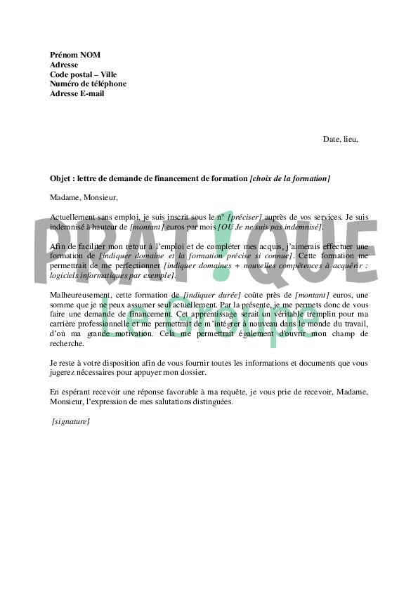 lettre de motivation pour formation pole emploi