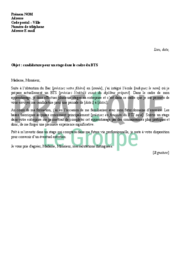 photo lettre candidature ce modele lettre