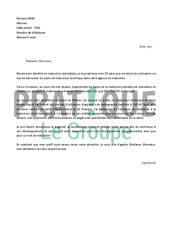 lettre et cv de motivation