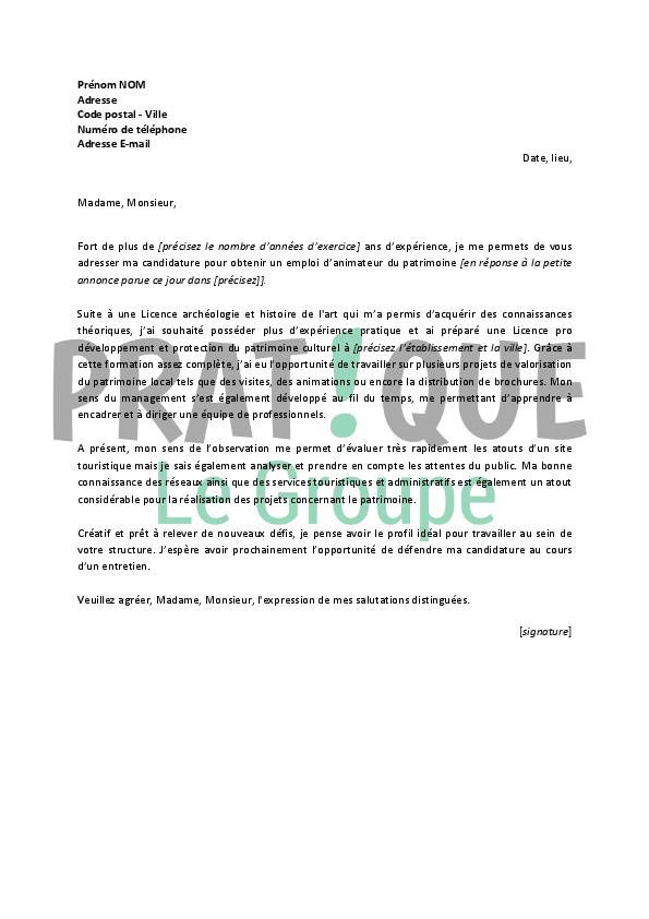 photo lettre de motivation pour animateur modele lettre