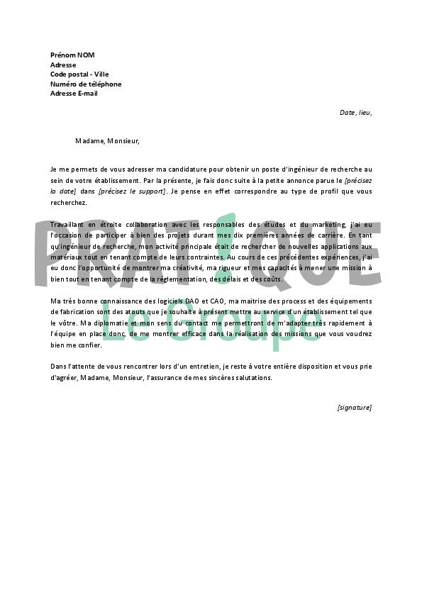 emploi lettre motivation