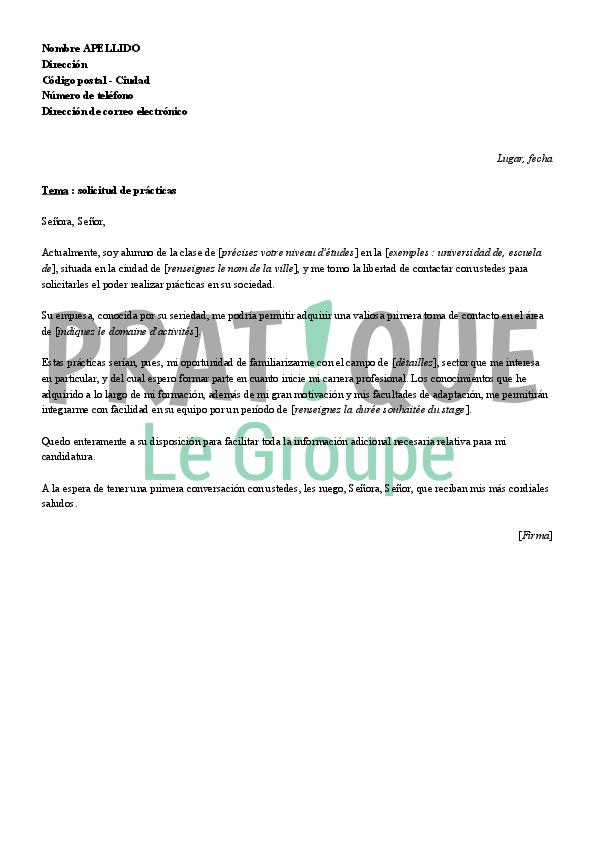 lettre de motivation pour un stage a letranger