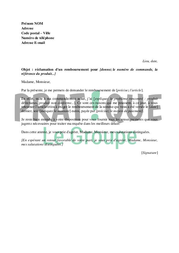 photo lettre de reclamation pdf modele lettre