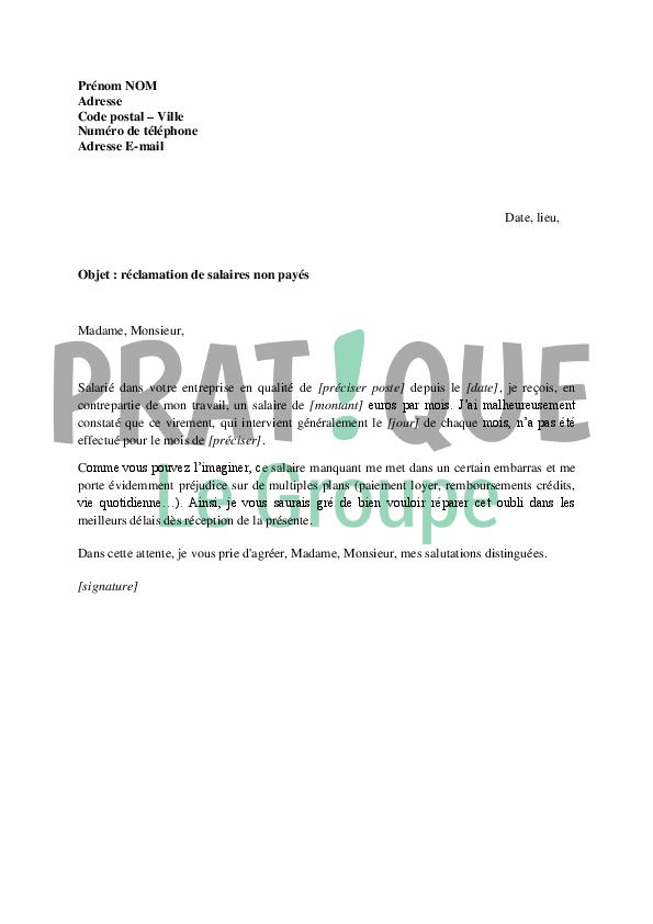 photo modele de lettre de reclamation modele lettre
