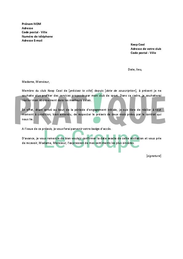 modele de lettre