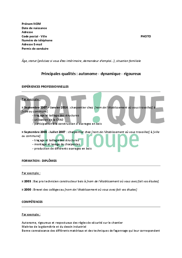 Exemple Cv Mireille Mercier All New Resume Examples