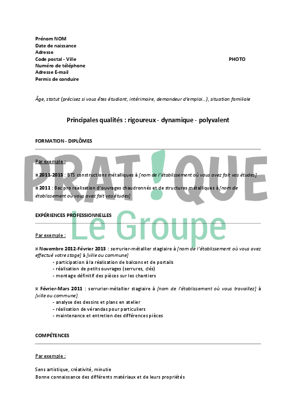 Cv Format Europeen Exemple All New Resume Examples Resume Template