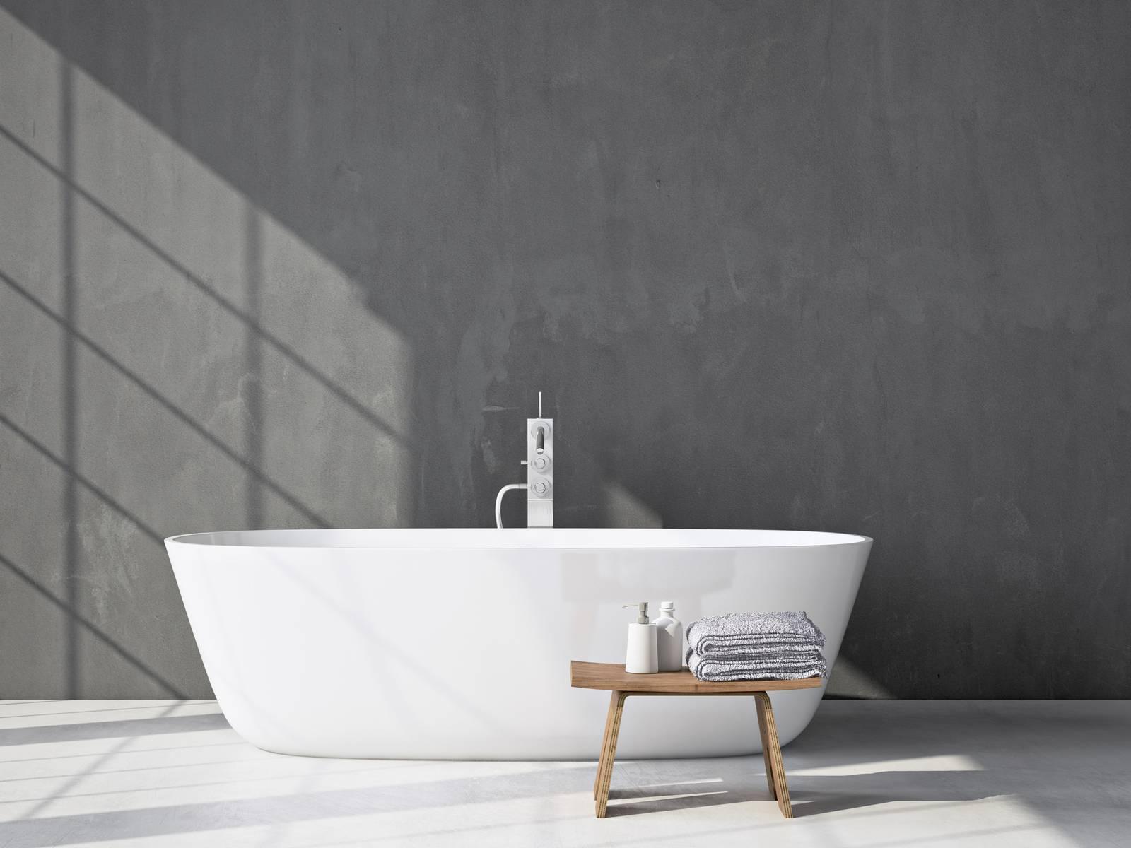 baignoire ilot dans sa salle de bain