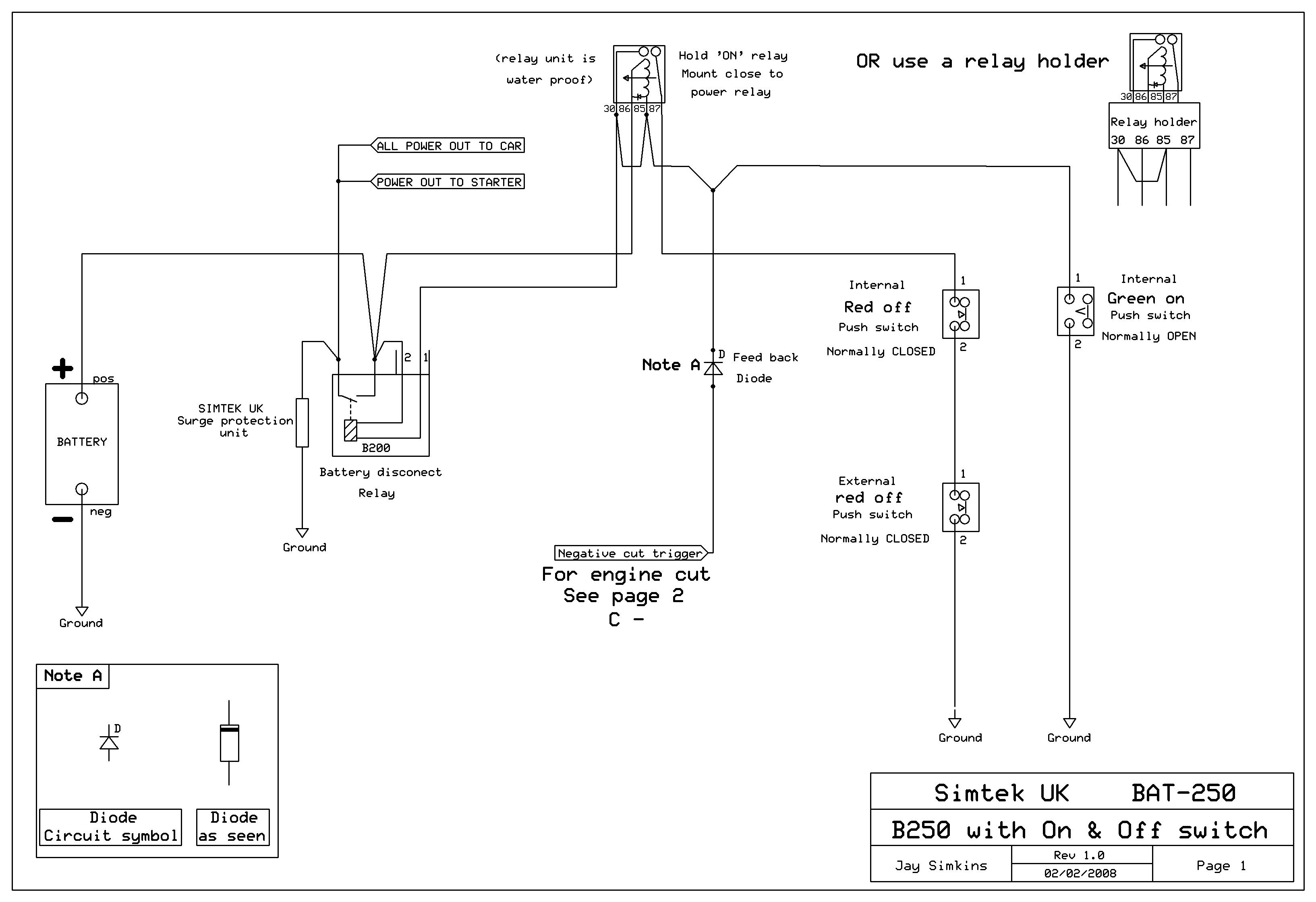 push pull switch wiring diagram 93 mustang alternator button easy install electric battery master