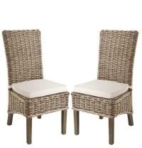Rowico Lulworth Grey Wash Rattan Dining Chair | Living ...