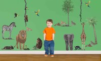 Jungle Animal Wall Stickers | Walltastic Jungle Themed ...