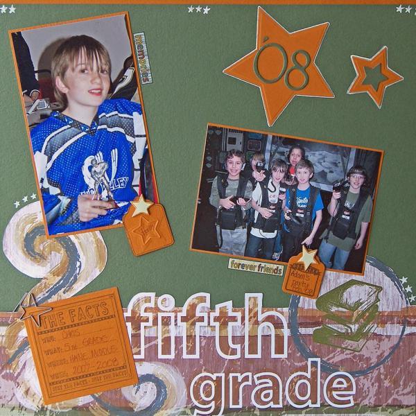Grade Scrapbook Layout