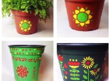 Easy Flower Pot Painting Ideas - Best Flowers and Rose 2017