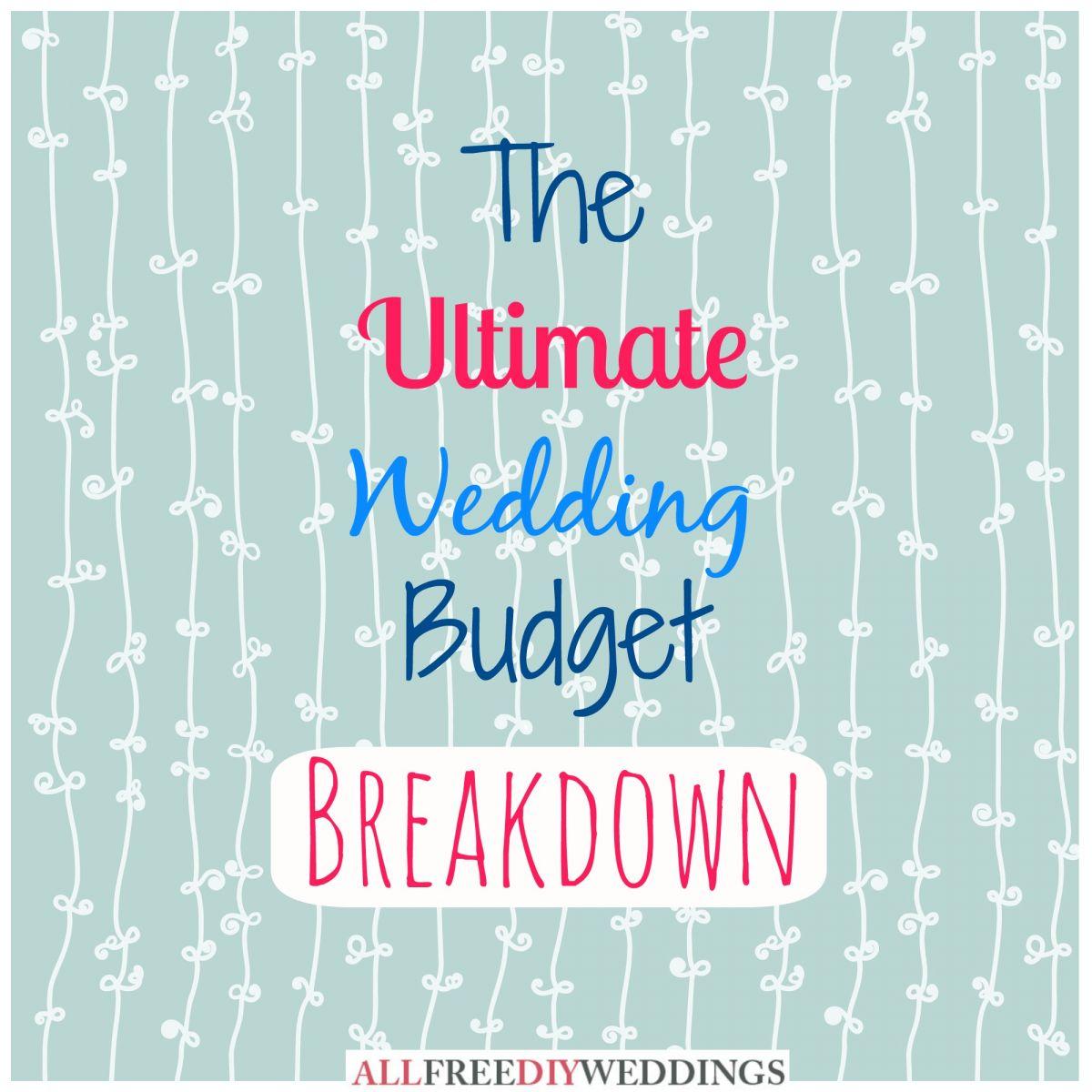 Wedding Planning Wedding Budget Breakdown