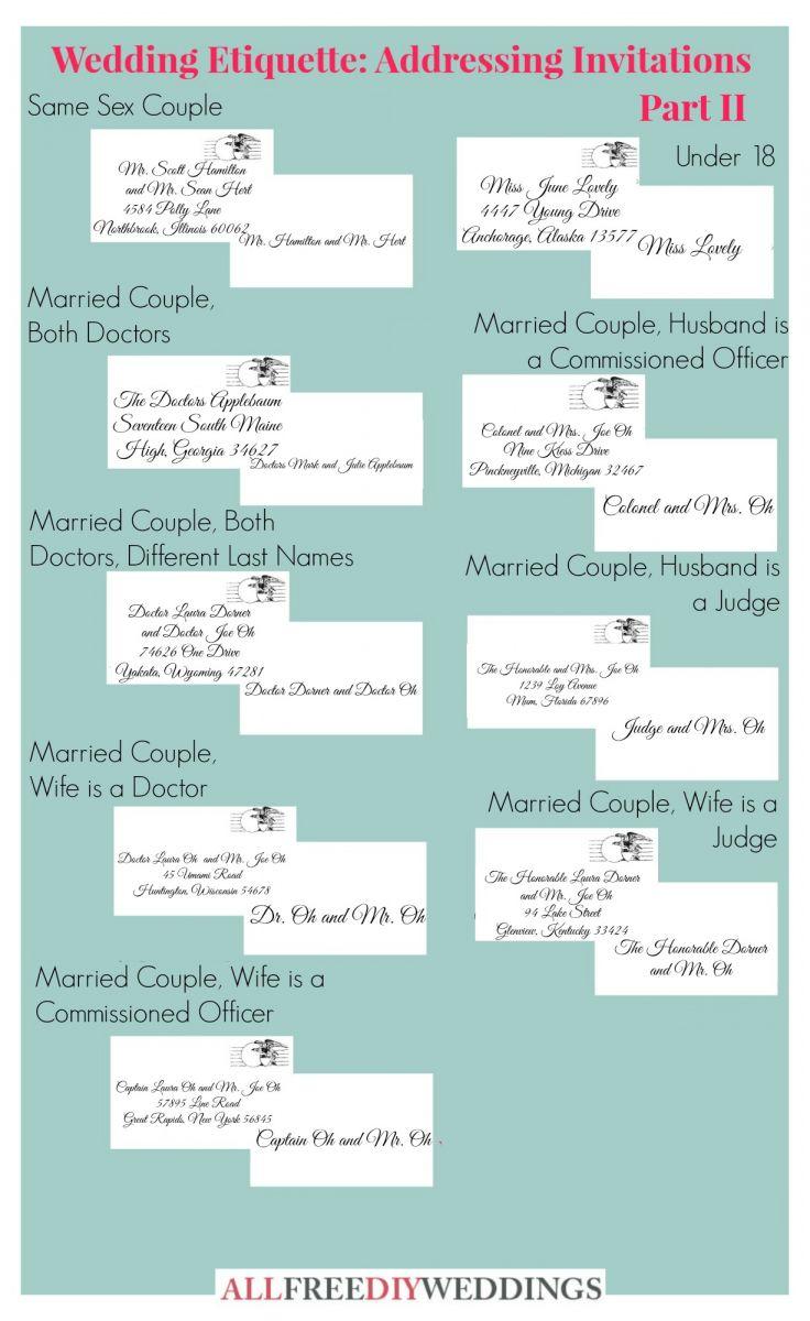 Wedding Etiquette Addressing Invitations Part Ii