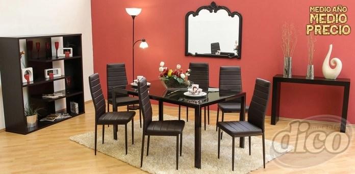 Muebles Dico Comedor de 6 sillas 3999  promodescuentoscom