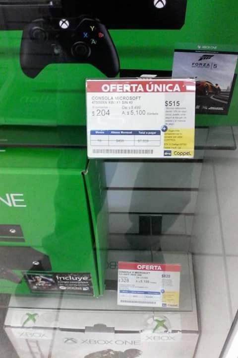 Coppel Xbox One con Forza 5 a 5100  promodescuentoscom