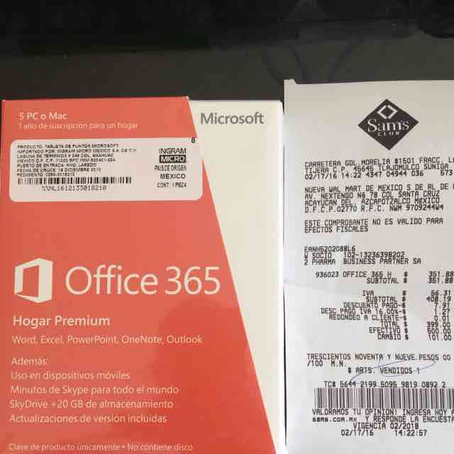 Sams Club Office 365 hogar a 399  promodescuentoscom