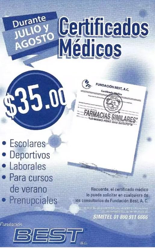 Farmacias Similares Certificados Mdicos A 35