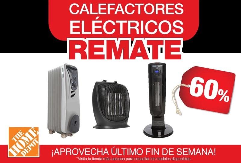 Home Depot 60 de descuento en calefactores electricos