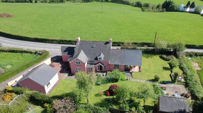 monmouthshire wales pink rural farmhouse