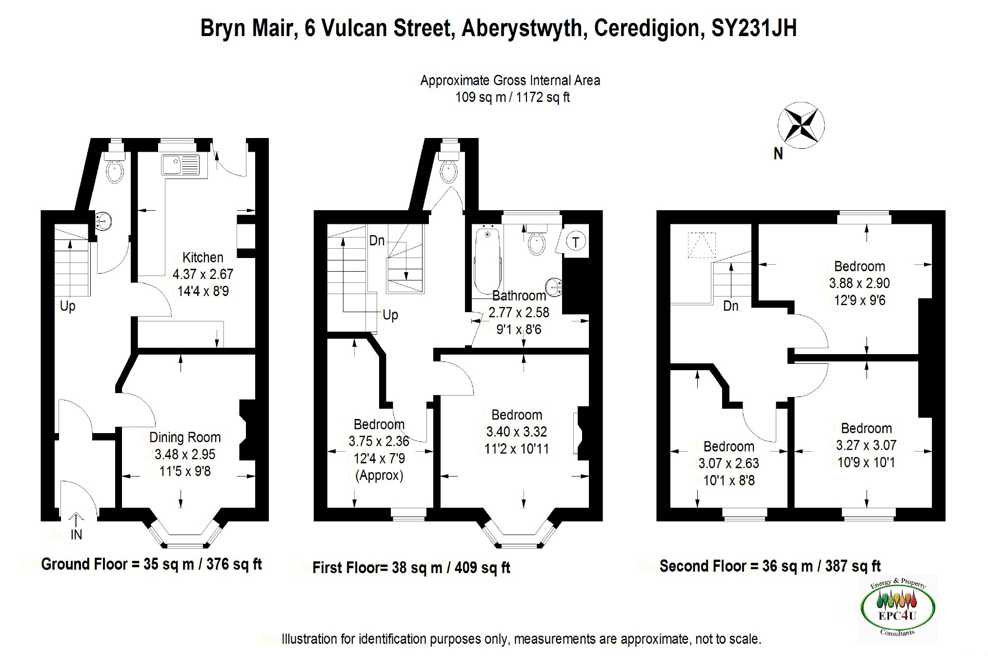 4 bedroom Terraced House for sale in Aberystwyth
