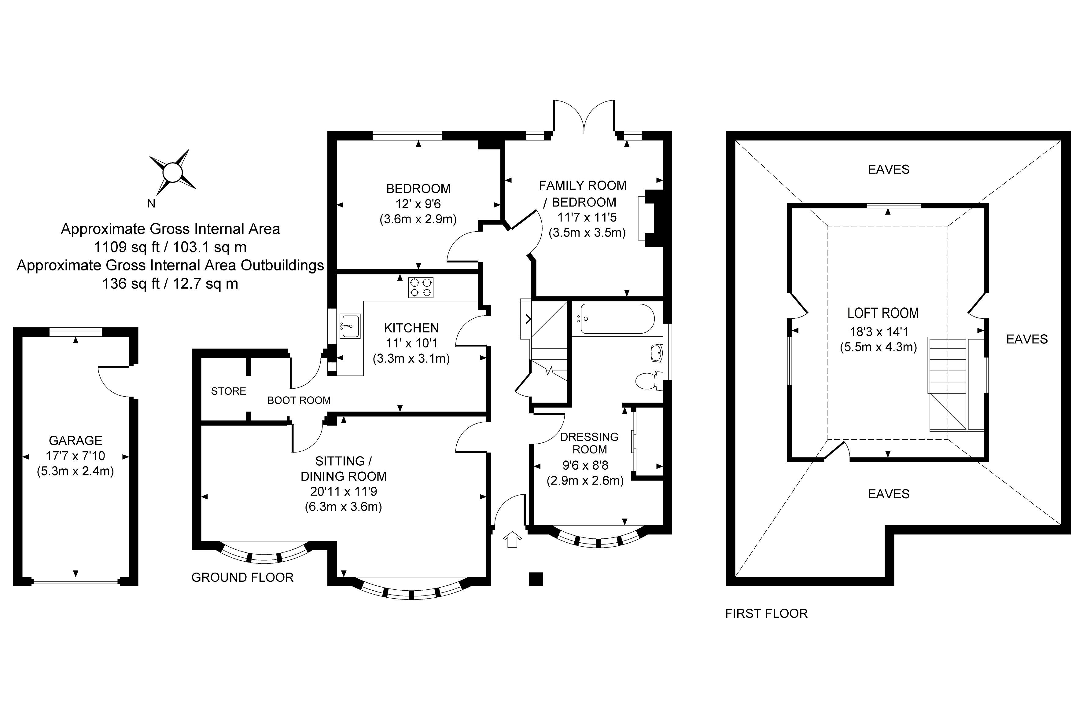 2 bedroom Detached Bungalow for sale in Woking