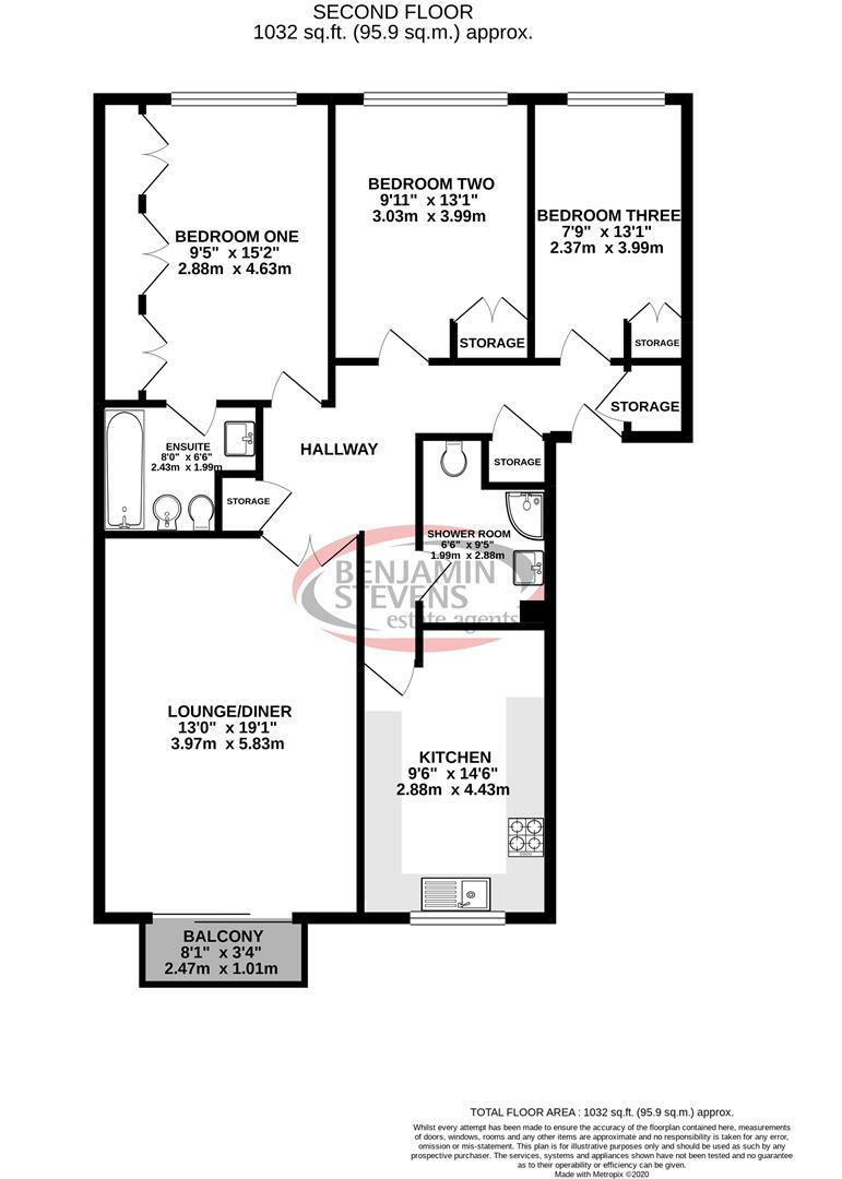 3 bedroom Flat for sale in Edgware