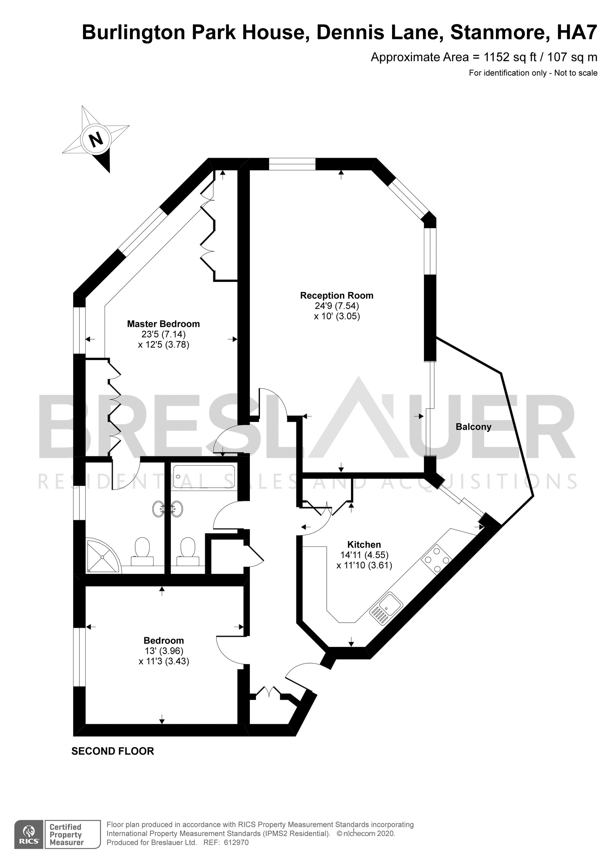 2 bedroom Apartment for sale in Stanmore